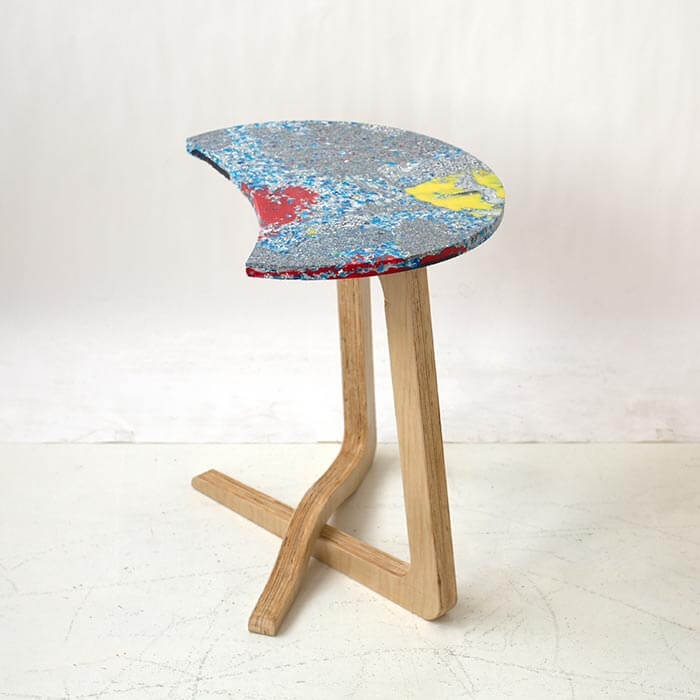 Huddle coffee table  100% recycled plastic top  Critical