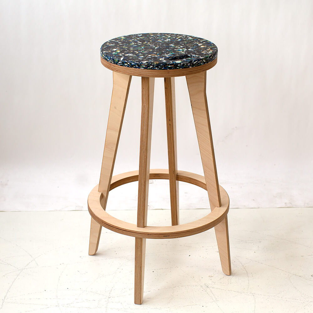 Critical Bar Stool 100 Recycled Plastic Top Critical